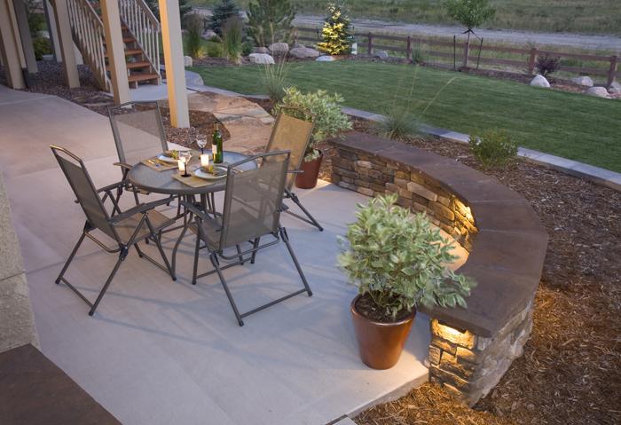 beautiful backyard at dusk